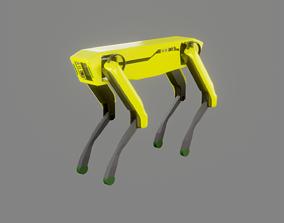 3D asset Boston Dynamics Dog - Low Poly PBR- Game Ready