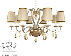 3D model Masiero 7600 S8 chandelier