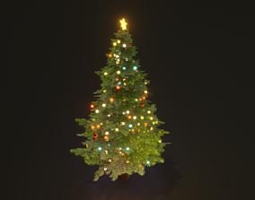 3D asset game-ready Christmas tree pbr