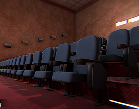 Cinema hall 3D model PBR
