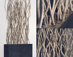 3D Planter white croked branch n1
