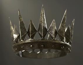 3D model Old Medieval Dark Crown