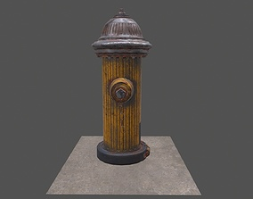game-ready Fire Hydrant Low-poly 3D model