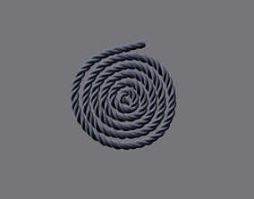low-poly Rope Snail 3D Model
