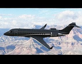 3D model Bombardier Challenger 850 Private Black