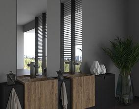 Bathroom in Cinema 4D and Corona 3D model