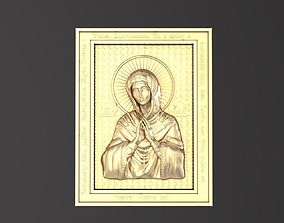 3D print model Russian icon 043 Holy Mother of God