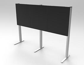 3D model Video Wall 3x2