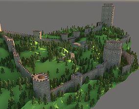 3D model Rumeli Fortress Rumeli Hisari istanbul TURKEY