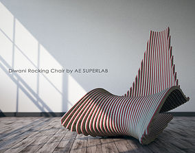 3D model Diwani Rocking Chair by AE SUPERLAB