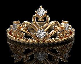 Crown ring 4 3D print model