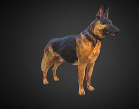 3D model Shepherd German Low Polygon Art Dog Animal