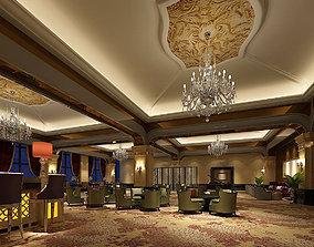 3D model Business Restaurant - Coffee - Banquet 90