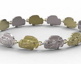 3D print model Gold bracelet for children