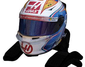 Grosjean Helmet 2016 3D model