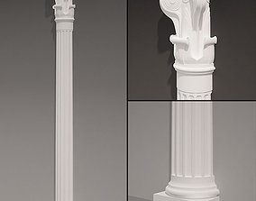 Antique Pilaster rype 1 3D
