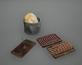3D asset Viking Food Set Low Poly Game Ready