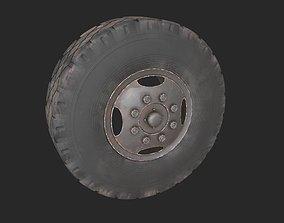 wheel 3D asset low-poly
