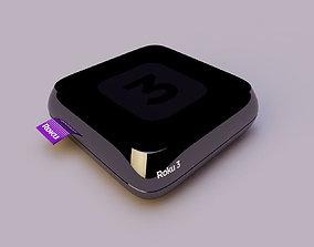 3D model Roku 3 XD Digital HD Media Streamer