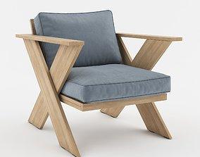 Outdoor Armchair armchair 3D