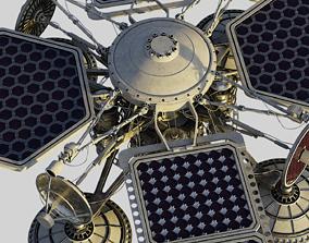 3D scifi satelite