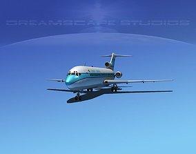3D model Boeing 727-200 Kuwait Airways