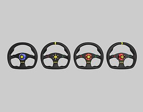 3D print model MOMO Steering Wheel with 4 Different 1