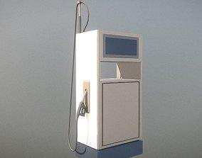 3D Fuel Dispenser 1 low-poly