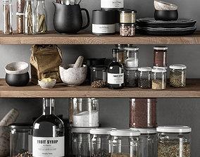 3D model kitchen decor set 03