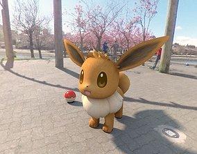 Pokemon Eevee 3D asset low-poly
