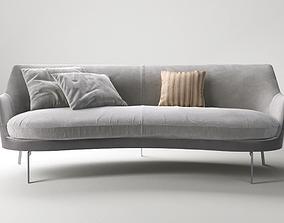 3D model Flexform Guscio sofa fabric