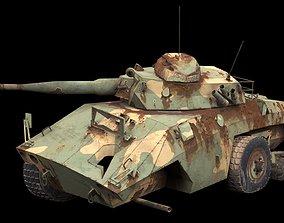 3D model damaged EE-9 Cascavel tank