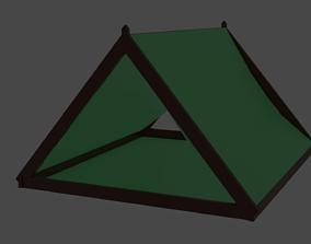 3D model Low Poly Simple Tent