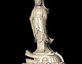 3D printable model portrait The Bodhisattva