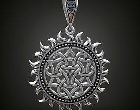 3D printable model Pagan Pendant sun nordic symbol