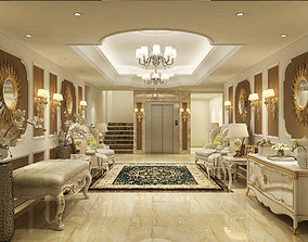 3D model classic entrance hall
