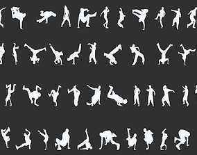 Dancer Silhouettes Pack 3D print model