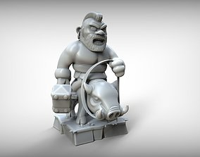 3D print model figurine Hog Rider Clash of Clans