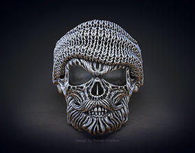 Skull ring with beard 3d model for 3d printing