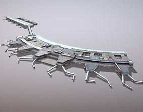 3D asset Airport Terminal LEMD Terminal1 Madrid Barajas