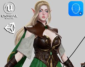 Elven Archer - Game Ready 3D asset