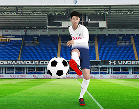 Son Heung Min rigged 3D