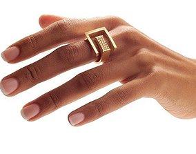 3D print model Angela Hubel Ring 02