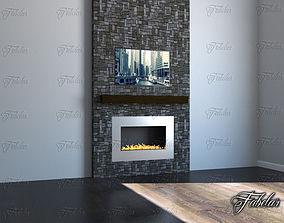 3D model heat Fireplace