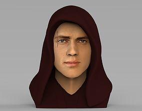 Anakin Skywalker Star Wars bust ready for full color 3D 1