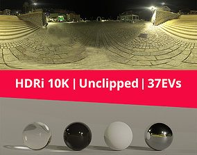 HDRi Night Light and Houses 3D