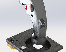 3D print model F-14B rio HCU stick and panel with 1
