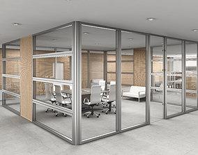 3D office interior partition modern