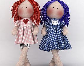 Textile doll Tilda toy cloth 3D