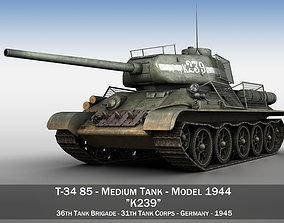 T-34 85 - Soviet medium tank - 239 3D